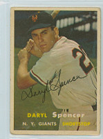 Daryl Spencer AUTOGRAPH 1957 Topps #49 Giants 