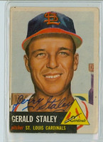 Gerald Staley AUTOGRAPH d.08 1953 Topps #56 Cardinals CARD IS F/P