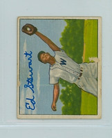 Eddie Stewart AUTOGRAPH d.00 1950 Bowman #143 Senators  MINOR PAPER LOSS ON CARD; o/w VGEX
