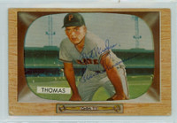 Frank Thomas AUTOGRAPH 1955 Bowman #58 Pirates CARD IS F/G; AUTO CLEAN