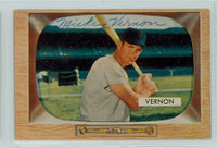 Mickey Vernon AUTOGRAPH d.08 1955 Bowman #46 Senators CARD IS CLEAN VG