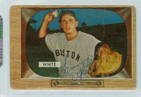 Sammy White AUTOGRAPH d.91 1955 Bowman #47 Red Sox 