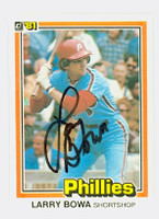 Larry Bowa AUTOGRAPH 1981 Donruss #142 Phillies 