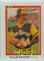 Rollie Fingers AUTOGRAPH 1981 Donruss #2 Padres 