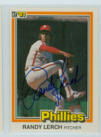 Randy Lerch AUTOGRAPH 1981 Donruss #574 Phillies 