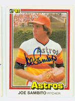Joe Sambito AUTOGRAPH 1981 Donruss #21 Astros 