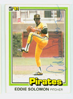 Eddie Solomon AUTOGRAPH d.86 1981 Donruss #16 Pirates 