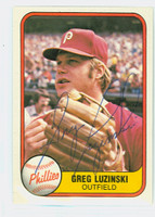 Greg Luzinski AUTOGRAPH 1981 Fleer #10 Phillies 