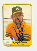 Jeff Newman AUTOGRAPH 1981 Fleer #577 Athletics 