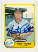 Marty Pattin AUTOGRAPH 1981 Fleer #37 Royals 