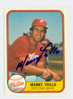 Manny Trillo AUTOGRAPH 1981 Fleer #3 Phillies 