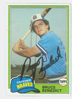 Bruce Benedict AUTOGRAPH 1981 Topps #108 Braves 