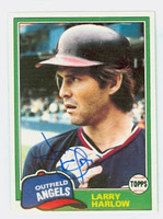 Larry Harlow AUTOGRAPH 1981 Topps #121 Angels   [SKU:HarlL7169_T81BB]