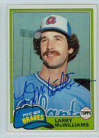 Larry McWilliams AUTOGRAPH 1981 Topps #44 Braves 