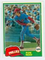 Ron Reed AUTOGRAPH 1981 Topps #376 Phillies   [SKU:ReedR1618_T81BB]