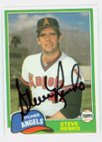 Steve Renko AUTOGRAPH 1981 Topps #63 Angels TRADED 