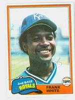Frank White AUTOGRAPH 1981 Topps #330 Royals 