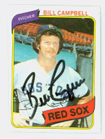 Bill Campbell AUTOGRAPH 1980 Topps #15 Red Sox 