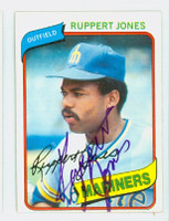 Ruppert Jones AUTOGRAPH 1980 Topps #78 Mariners 