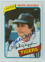 Mark Wagner AUTOGRAPH 1980 Topps #29 Tigers   [SKU:WagnM9222_T80BBLE]