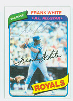 Frank White AUTOGRAPH 1980 Topps #45 Royals 