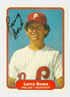 Larry Bowa AUTOGRAPH 1982 Fleer #241 Phillies 