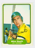 Mike Heath AUTOGRAPH 1982 Fleer #91 Athletics 