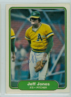 Jeff Jones AUTOGRAPH 1982 Fleer #94 Athletics 