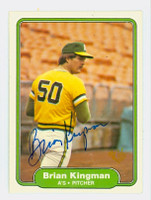 Brian Kingman AUTOGRAPH 1982 Fleer #96 Athletics 