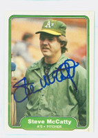 Steve McCatty AUTOGRAPH 1982 Fleer #99 Athletics 