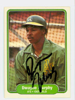 Dwayne Murphy AUTOGRAPH 1982 Fleer #101 Athletics 