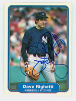 Dave Righetti AUTOGRAPH 1982 Fleer #52 Yankees 