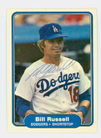 Bill Russell AUTOGRAPH 1982 Fleer #20 Dodgers 