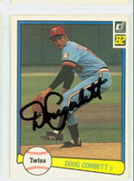 Doug Corbett AUTOGRAPH 1982 Donruss #53 Twins 