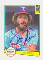 Jim Kern AUTOGRAPH 1982 Donruss #89 Rangers 
