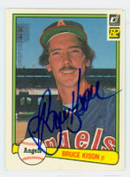 Bruce Kison AUTOGRAPH 1982 Donruss #66 Angels 