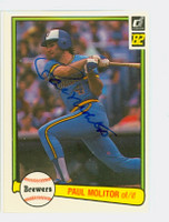 Paul Molitor AUTOGRAPH 1982 Donruss #78 Brewers 