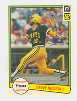 Steve Nicosia AUTOGRAPH 1982 Donruss #45 Pirates 
