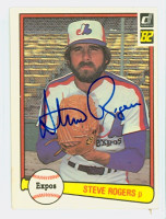 Steve Rogers AUTOGRAPH 1982 Donruss #36 Expos 
