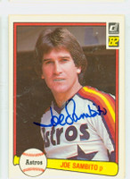Joe Sambito AUTOGRAPH 1982 Donruss #65 Astros 