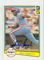 Billy Sample AUTOGRAPH 1982 Donruss #69 Rangers 