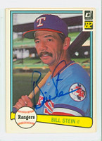 Bill Stein AUTOGRAPH 1982 Donruss #37 Rangers 