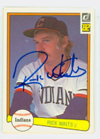 Rick Waits AUTOGRAPH 1982 Donruss #33 Indians 