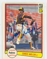 Chris Welsh AUTOGRAPH 1982 Donruss #44 Padres 