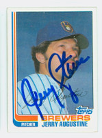Jerry Augustine AUTOGRAPH 1982 Topps #46 Brewers 