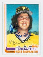 Ross Baumgarten AUTOGRAPH 1982 Topps #3T Pirates TRADED 