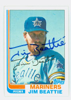 Jim Beattie AUTOGRAPH 1982 Topps #22 Mariners 