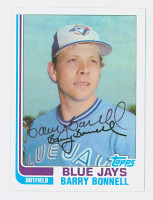 Barry Bonnell AUTOGRAPH 1982 Topps #99 Blue Jays 