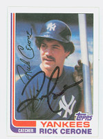 Rick Cerone AUTOGRAPH 1982 Topps #45 Yankees 