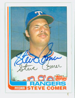 Steve Comer AUTOGRAPH 1982 Topps #16 Rangers 